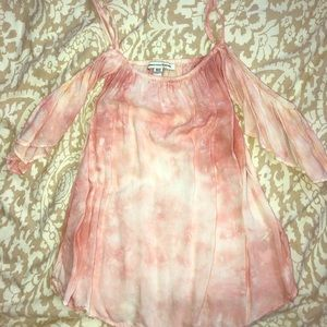 American Eagle pink tie-dye top size x-small